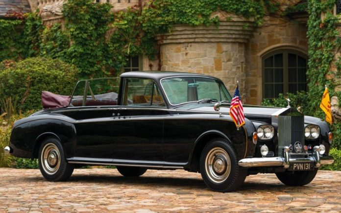 From Ceaușescu to The Queen – 1967 Rolls-Royce state landaulet originally built for the Communist dictator Nicolae Ceaușescu – but considered too extravagant even by him – and later used by Her Majesty The Queen to be auctioned by RM Sotheby's on Friday 18th January 2018 at their Arizona 2019 – Estimate: £791,000 to £1.2 million ($1 million to $1.5 million, €880,000 to €1.3 million or درهم3.7 million to درهم5.5 million).