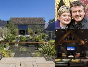 "Cleaning up – EuroMillions winners Paul and Justine Laycock to sell their £4.5 million ""eco mansion"" Barnsley Hill Farm, Bibury, Gloucestershire, GL7 5LY"