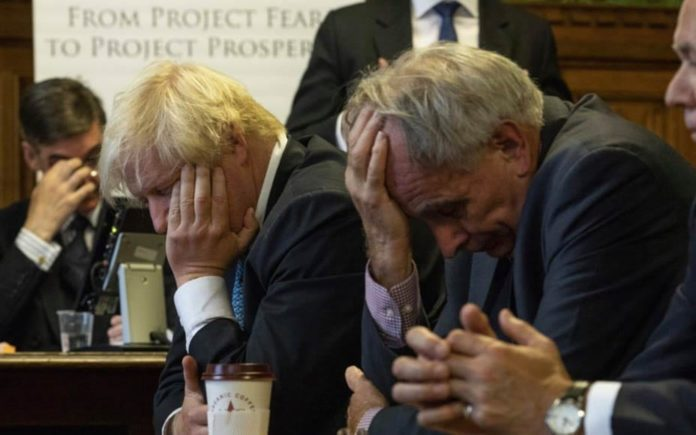 Picture of the Week – Brexit Blues – Iain Duncan Smith, Peter Bone, Boris Johnson and Jacob Rees-Mogg captured looking exasperated; an exact reflection on their beloved Brexit.