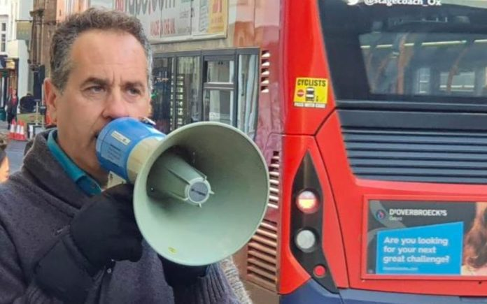 """The Megaphone Maniac – Activist Danny Shine caught shouting in Oxford – Lunatic from London caught shouting """"stop reproducing!"""" through a megaphone in Oxford; Danny Shine previously got prosecuted for shouting about masturbation."""