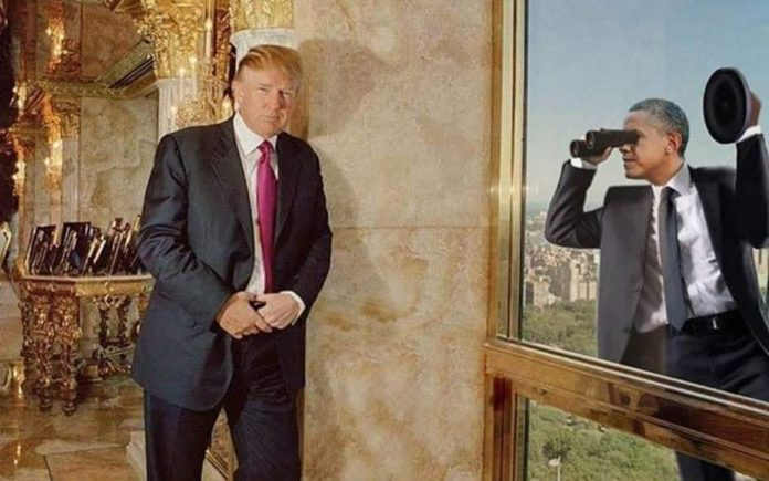 Picture of the Week – Obama caught spying on Trump