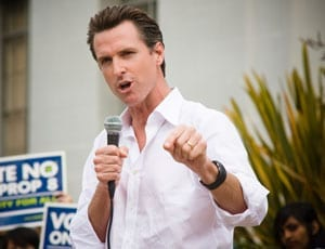 "Another blow for Trump - Lieutenant Governor of California Gavin Newsom takes to Facebook to describe Donald Trump as ""offensive and dangerous"""
