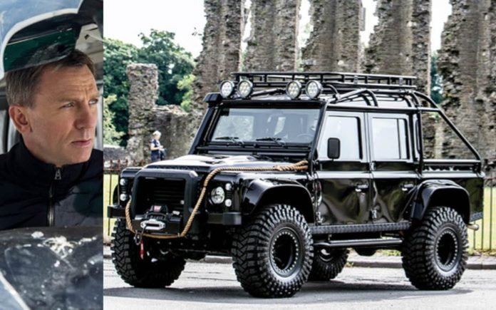 A Spectre of a Landy – Villain's 2014 Land Rover Defender SVX used in 2015 James Bond film 'Spectre' to be auctioned in London on 6th September 2017 without reserve by RM Sotheby's.