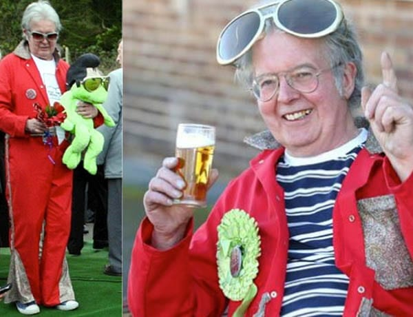 Serial fringe candidate David Bishop (AKA 'Lord Biro' & 'Bus-pass Elvis') – Eccentric David Bishop goes by the name 'Lord Biro' when he stands in elections. He attended Jimmy Savile's funeral dressed as Elvis.