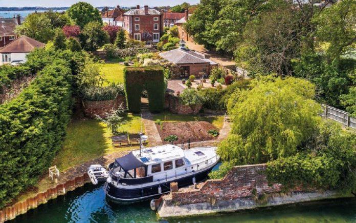 Sail Away – Wharf House, 30 King Street, Emsworth, Hampshire, PO10 7AZ – Grade II listed Georgian house complete with its own private dock for sale for £3.4 million ($4.4 million, €3.9 million or درهم16.1 million) through Strutt & Parker.