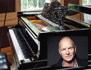 Sting's Steinway Sells – Sting and Trudie Styler sell contents of their former Queen Anne's Gate home – Steinway piano sells for £116,500 at Christie's in London