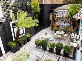 Tea at Blakes – Matthew Steeples takes afternoon tea in the delightful courtyard garden at Blakes Hotel in Roland Gardens, South Kensington, London, SW7 3PF.