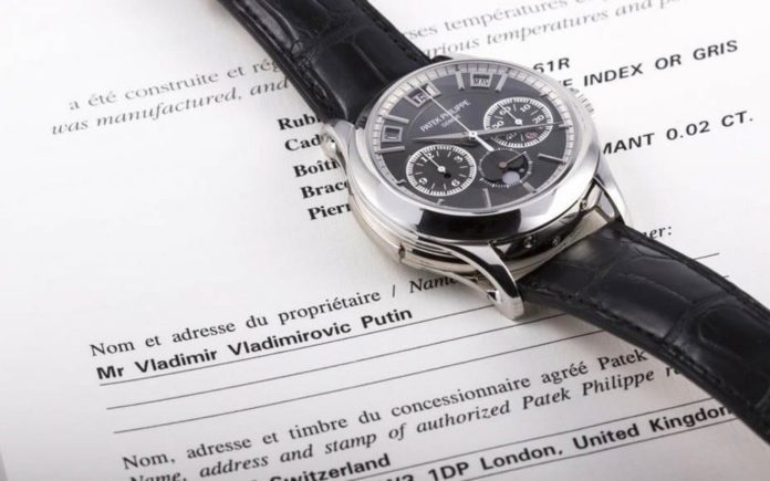 Watching Putin – Patek Philippe 5208P 'Grand Complication' watch allegedly owned by President Vladimir Vladimirovic Putin to be sold on 19th July 2017 – Said to be worth £793,000 ($1 million, €903,000 million or درهم3.7 million)