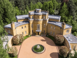 A Poirot Curve – Curve shaped neo-Georgian house that wouldn't look out of place in an Agatha Christie Poirot novel on the St. George's Hill estate in Surrey for sale for an extraordinary sum. Hamstone House, South Ridge, St. Georges Hill, Weybridge KT13 0NF, United Kingdom is offered for £16 million ($18.4 million, €17.2million or درهم67.6 million) by agents Beauchamp Estates.