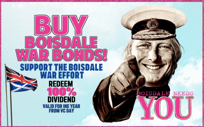 Churchillian Boisdale – Restaurant launches 'Victory Over CV19' bonds – Boisdale prepares for celebration of 'Victory Over CV19' with the launch of fourteen 'war bonds' to be redeemed when gastronomes can again gather.