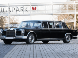 A Grand Old Man's Grand Old Merc – President Félix Houphouët-Boigny – 1967 Mercedes 'Dictator Car' owned until 1993 by the first President of Ivory Coast to be auctioned after being restored at vast expense – 1967 Mercedes-Benz 600 Six-Door Pullman to be sold by RM Sotheby's at their 24th to 27th June 2020 sale in Essen, Germany on behalf of current owner Dr Urich Speicher. An estimate of £220,000 to £247,000 ($273,000 to $306,000, €250,000 to €280,000 or درهم1 million to درهم1.1 million) has been set.
