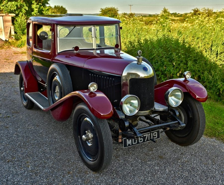 """A Meticulous MG – £75,000 for 1925 MG 14/28 Super Sports bullnose salonette through Vintage & Prestige Classic Cars – """"Meticulously restored"""" MG 14/28 Super Sports bullnose two-door salonette for sale; it is the only surviving example of just six made in 1925."""