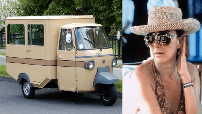 An Agusta Ape – £50k for Piaggio Ape used by Countess Francesca Agusta (1942 – 2001) – 1978 Piaggio Ape 'limousine' by Pavesi used by the controversial Countess Agusta – a very wealthy woman who either fell or was pushed to her death from her home above Portofino, Italy in 2001 – to be auctioned by RM Sotheby's as part of their 'Driving Into Summer' 21st to 29th May 2020 auction with an estimate of £37,000 to £49,000 ($45,000 to $60,000, €42,000 to €55,000 or درهم165,000 to درهم220,000).