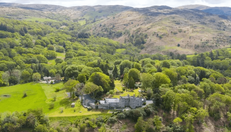 Mocking The Dockers – Former home of Sir Bernard and Lady Docker – Glandyfi Castle, Glandyfi, near Machynlleth, Ceredigion, Powys, Mid Wales, SY20 8SS, United Kingdom for sale through Strutt & Parker – Welsh 'mock castle' once occupied by notorious spendaholic Lady Docker for sale for £2.85 million; the Dockers were turfed out in 1956 after it was discovered they'd lavished the equivalent of £1.3 million today of company money on the place without permission.