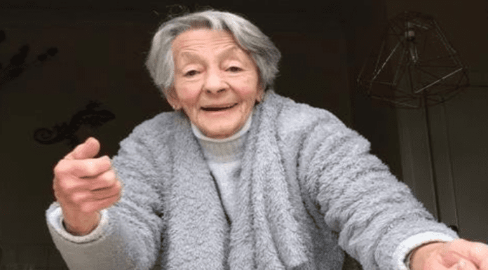 """Heroine of the Hour – Martini drinking 90-year-old Micheline Stephen – Ninety-year-old daily martini drinker Micheline Stephen of Cupar, Scotland is to be saluted for grabbing a robber and calling him """"a wee sh*te."""""""