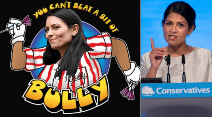 """A Bit of A Bully – Priti Patel – Priti Patel contradicts over Christmas – Well-known bully Priti Patel inspires a bingo game after her latest """"egregious"""" telly box blunder over Christmas Covid-19 rules."""